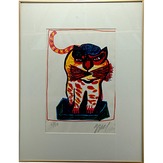 Karel Appel Numbered Lithograph