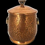 Vintage Humidor Hammered Copper Art & Crafts Movement Jugendstil Deffner WMF Tobacciana Storage Container