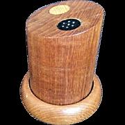 Vintage Teak Wood Salt & Pepper Shakers Mid Century Danish Modern Set