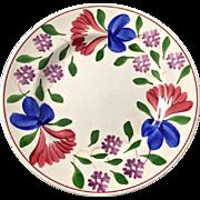 Vintage Spongeware Stick Spatter Spatterware England Beauville Pottery Plate