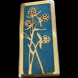 De Passille Sylvestre Enamel Brooch Pin Vintage Mid Century Modern Modernist Brooch