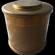 Art Deco Bronze Humidor Silver Crest Cigar Tobacco Smoking Storage Container Tobacciana