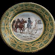 Napoleon Cabinet Plate Imperial Crown Porcelain Austria Napoleonic Gold Trim Vintage