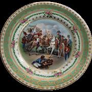 Napoleon Cabinet Plate Imperial Crown Porcelain Austria Napoleonic Portrait Vintage Austrian