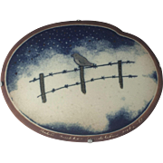 Arabia Pottery Finland Wall Plate Art Mid Century Modern Scandinavian Heljä Liukko-Sundström 83