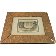 Aesthetic Movement Picture Mirror Frame Gesso Gold Painting 1880 Antique Photo Bridge