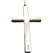 900 Silver Cross Christianity Quality Jewelry Pendant Antique Vintage
