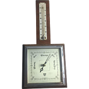 Art Deco Barometer Smiths England Wood Chrome