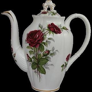 Vintage Coffee Pot Royal Albert Royal Canadian Rose Bone China England