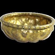 Arts & Crafts Movement Georg Mendelssohn Hammered Brass Bowl 1922 Vintage