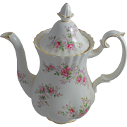 Royal Albert Lavender Rose Bone China Coffee Pot England Porcelain