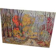 Oil Painting Anne Jaffray Ziegler Canadian Group Style Art Canada Forest Vintage