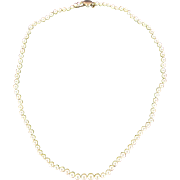 1930s Art Deco Japanese Cultured Round White Pearl Necklace