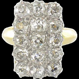 Rare Antique Rectangular Diamond Ring