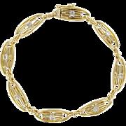 1900s French Rose Cut Diamond 18 Karats Yellow Gold Bracelet