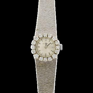 French Ladies Eviana White Gold Diamond Wristwatch 18 Karats gold white