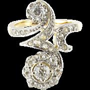 French Belle Epoque Diamond Ring 18 K Gold