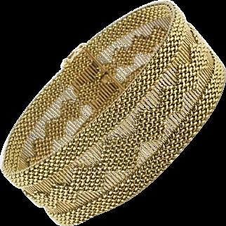 Golden Ribbon Bracelet 18 Karats gold yellow.