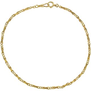 French Napoleon 3 1850s Yellow Gold Watch Chain Necklace