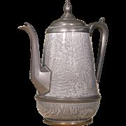 Gray Enamel Kettle | Vintage Tea Kettle | Metal and Enamel
