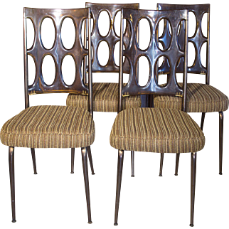 Lucite Chairs   Dining Room Chairs   4 pc Set Chairs   Mid Century Modern Chairs