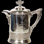 Silver Tea Kettle | Vintage Tea Kettle | Metal and Enamel