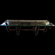 Glass Iron Table   Removable Glass Top Table   Vintage Coffee Table   Milo Milo