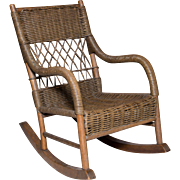 Little Wicker Rocker | Childs Furniture | Rocking Chair | Vintage Childrens Furniture | Milo Milo