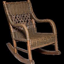Little Wicker Rocker | Childs Furniture | Rocking Chair | Vintage Childrens Furniture | Milo Milo