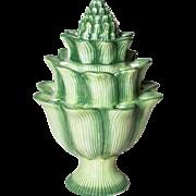 Lotus Ceramic Epergne Style Flower Vase | Green Ceramic Vase Multi Holes | Abigail Marked