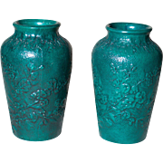 Large Green Ceramic Vases | Red Wing Union Stoneware