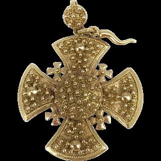 Estate Collection Antique 19th Century Maltese Cross