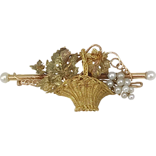 Antique 19th Century 18K French Brooch