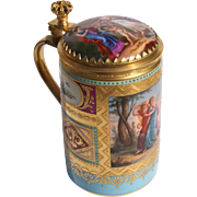 19th Century Royal Vienna Porcelain Stein With Gilt Bronze Mounts