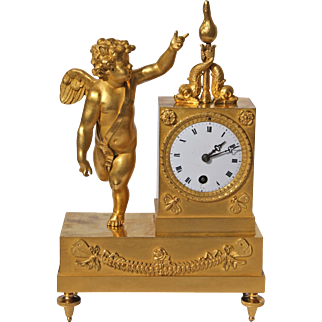 19th Century Gold Over Bronze French Mantel Clock