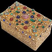 19th Century Viennese Gilt Bronze Hinged Table Box