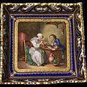 19th Century Serves Portrait Plate
