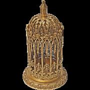 Gothic Revival Gilt Bronze Bird Cage
