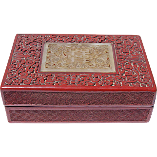 19th Century Japanese Cinnabar Box