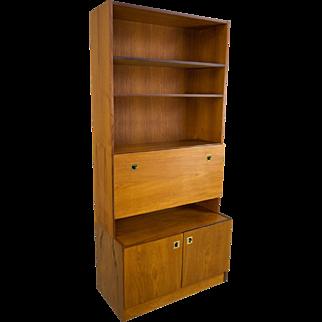 Teak Bookcase Bar Danish Modern Mid Century