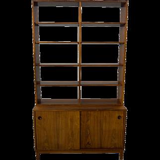 Rosewood Bookcase Display Danish Modern Mid Century