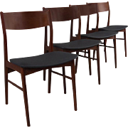 6 Rosewood Dining Chairs Mid Century Danish Modern