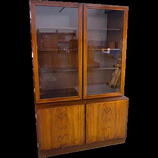 Omann Jun Rosewood Bookcase Display Mid Century Danish Modern