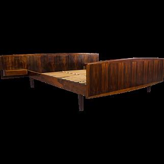 Rosewood Bed Danish Modern Mid Century