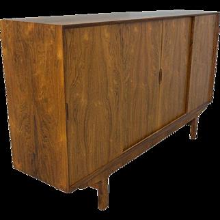 Rosewood Credenza Sideboard Buffet Mid Century Danish Modern