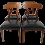 Biedermeier Dining Chairs, set of 4