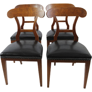 Biedermeier Dining Chairs, set of 4