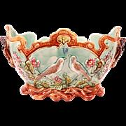 Beautiful Antique French Frie Onnaing Majolica Planter Cache Pot Jardiniere Circa 1880
