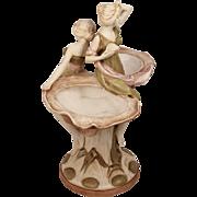 Antique Art Nouveau Bohemia Vase Bisque Royal Dux Centerpiece Circa 1890
