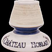 Château Horlait French Vintage Collectible Advertising Porcelain Pyrogen Match Striker Holder